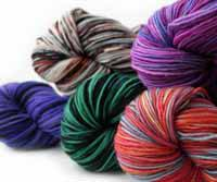 colorful fingering yarn