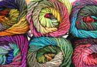 colorful worsted yarn