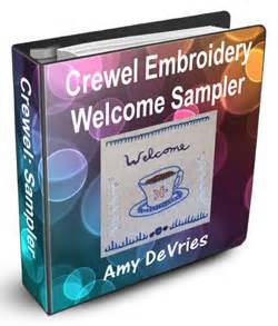 Crewel Embroidery Sampler Pattern Ebook