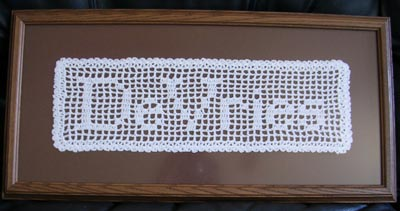 Crochet Patterns Names : ... not attend our wedding, mailed us these beautiful pieces of crochet