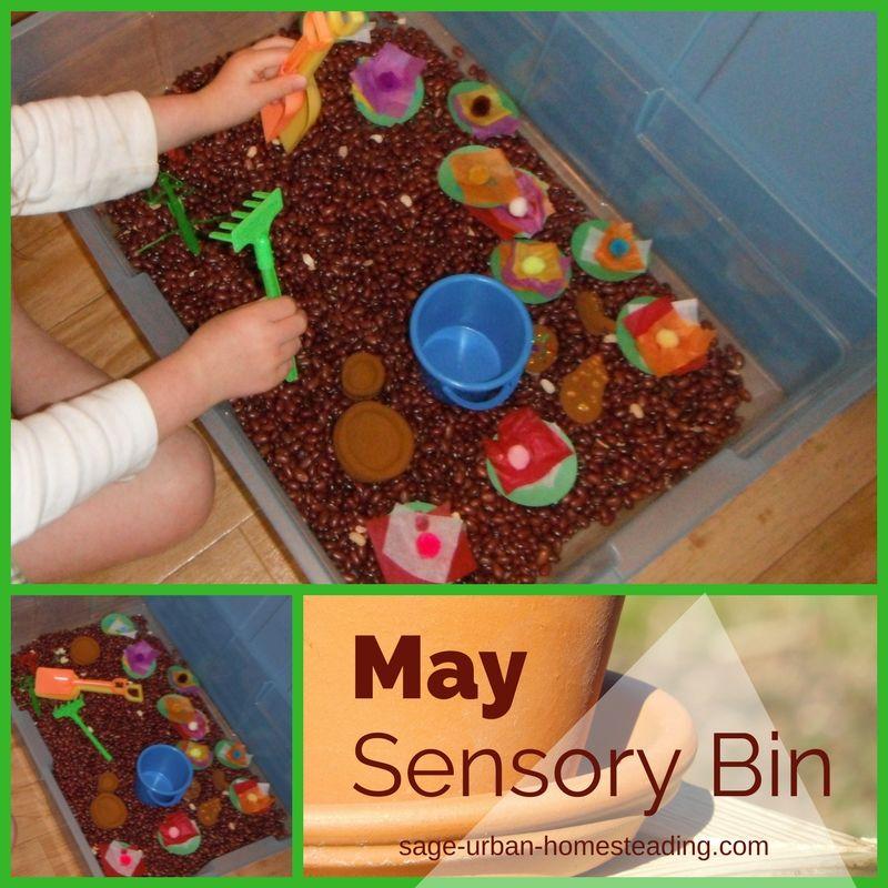 May sensory bin