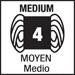 weight 4, medium