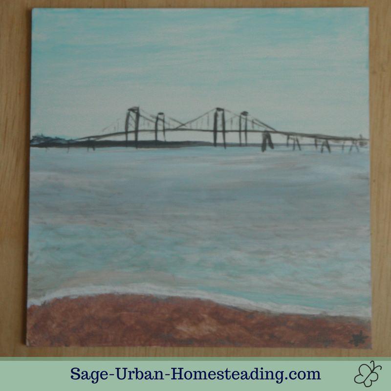 painting: Chesapeake Bay Bridge