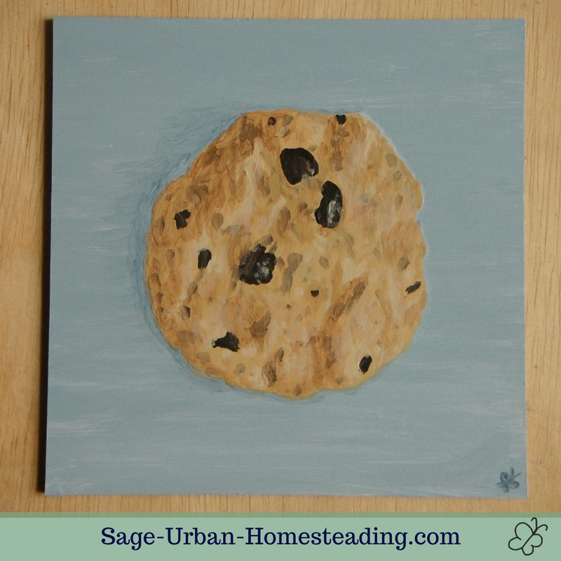 painting: chocolate chip cookie