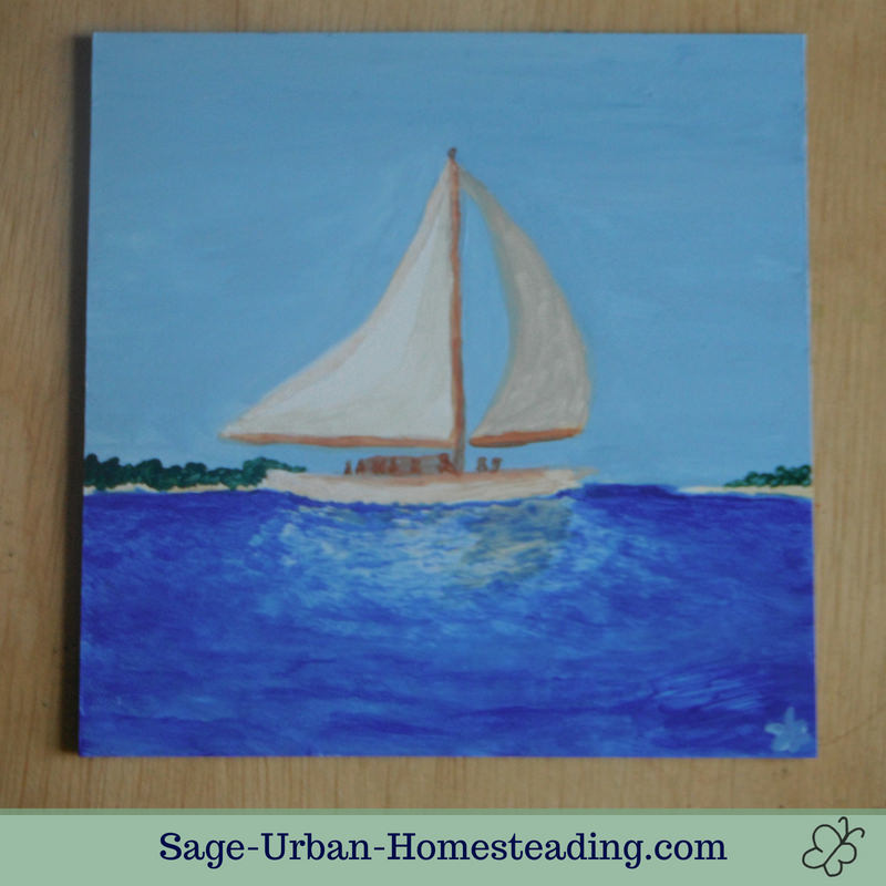 painting: skipjack sailboat