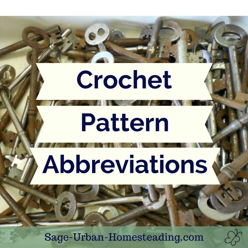 crochet pattern abbreviations