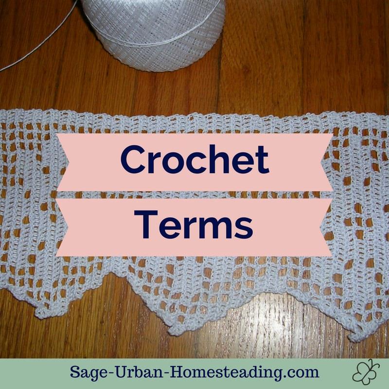 learn crochet terms