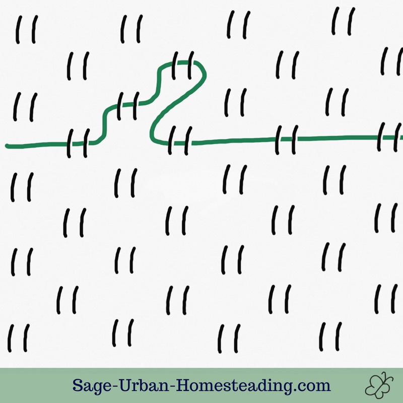 basic stitch for huck weaving