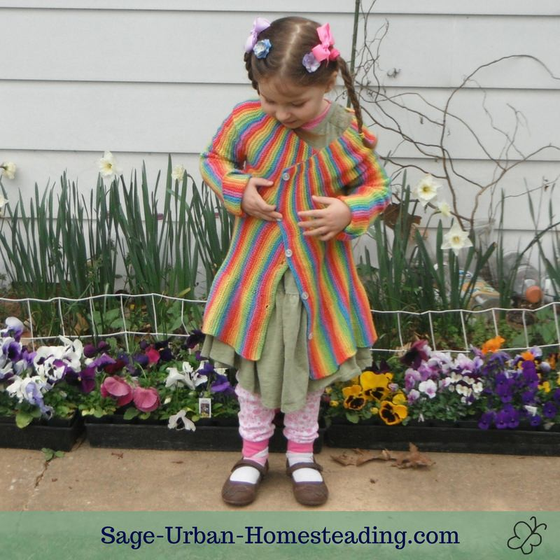 rainbow stripes child knit sweater
