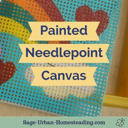 painted needlepoint canvas