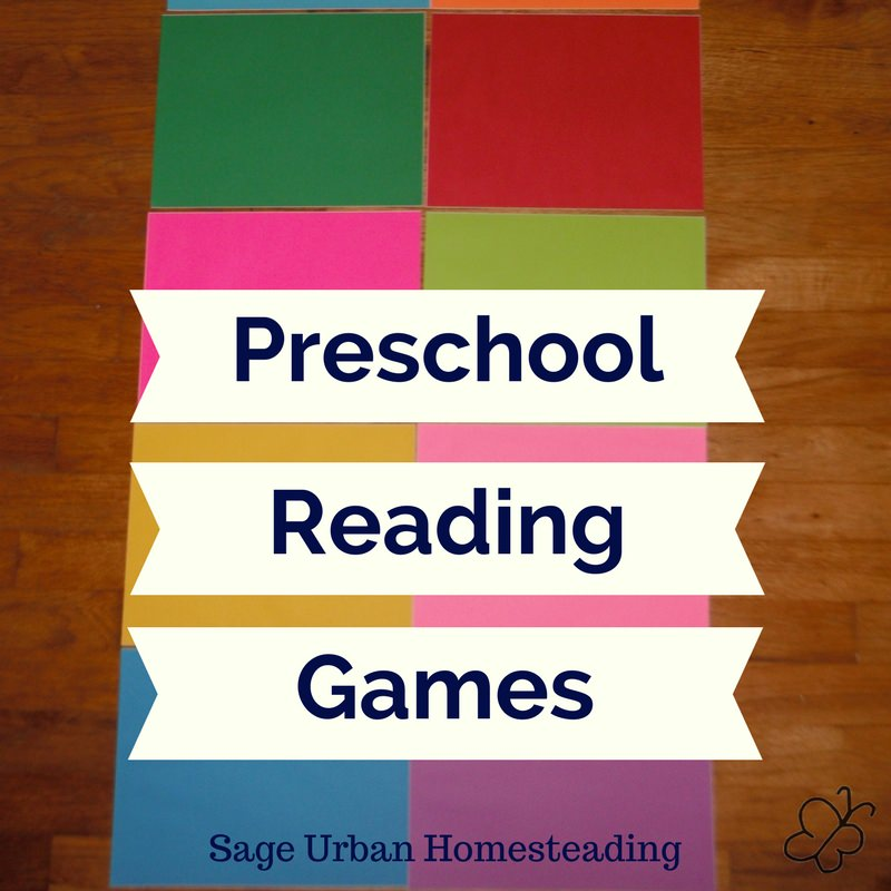 preschool reading games