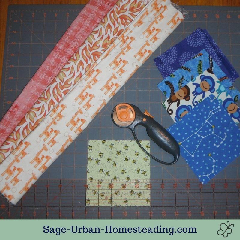 quilt fabric cutting