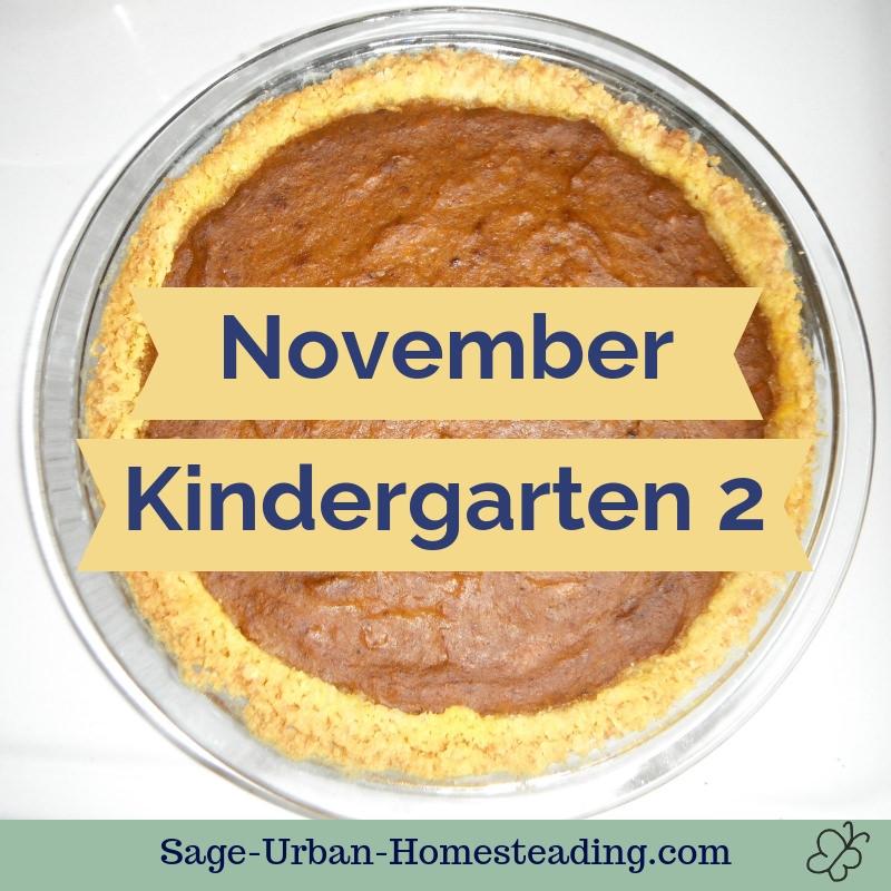 November kindergarten 2