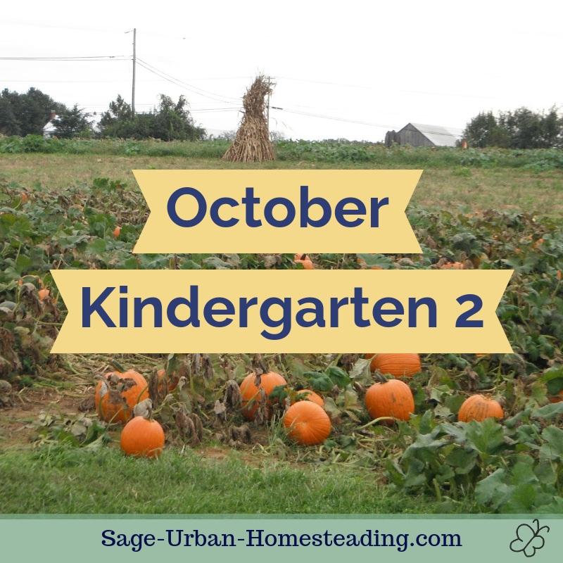 October kindergarten 2