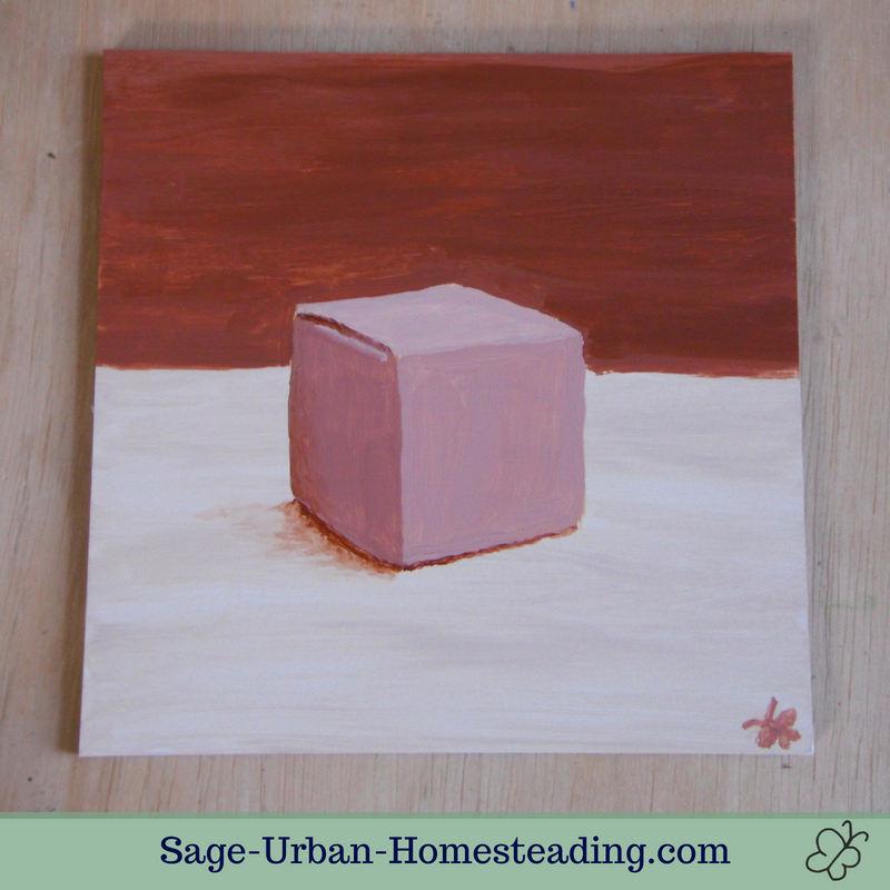 painting: cardboard box