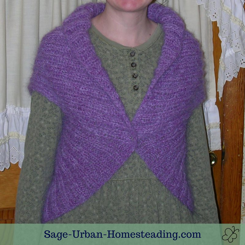 knit alpaca shrug