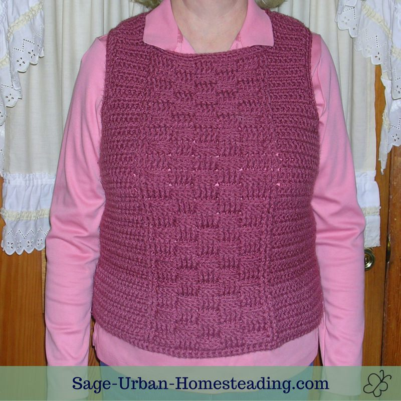 basketweave crochet sweater