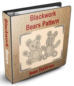 Blackwork Bears Pattern Ebook