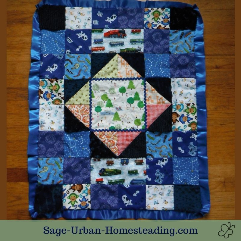 I spy quilt for a boy