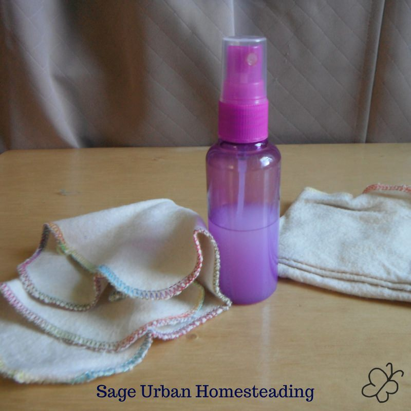 cloth wipes and spray