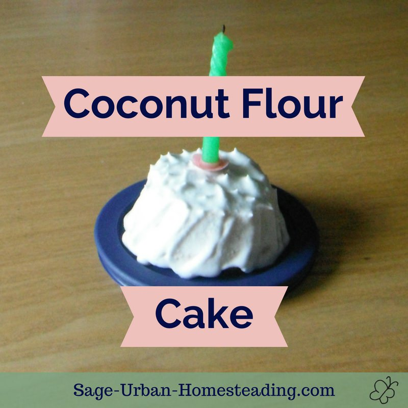 coconut flour cake with coconut cream frosting