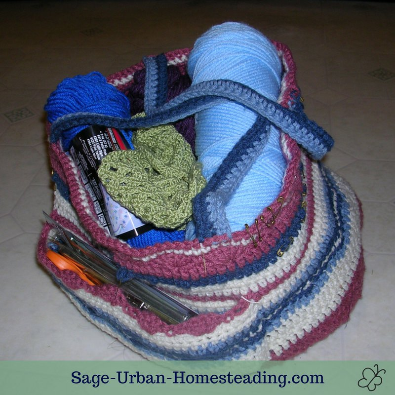 crochet bag for projects