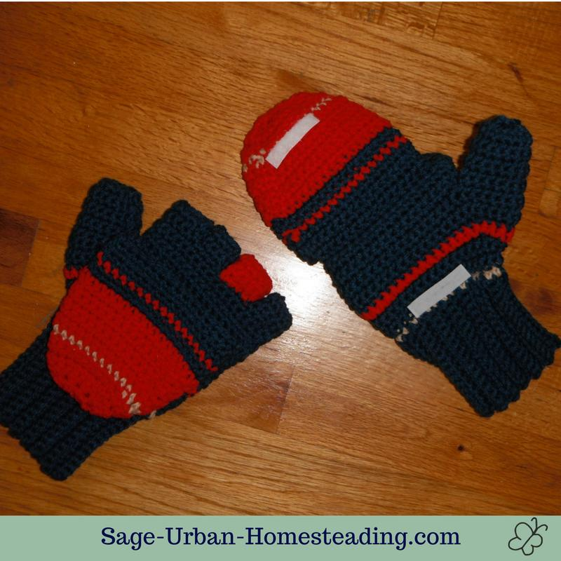 crochet mitten gloves