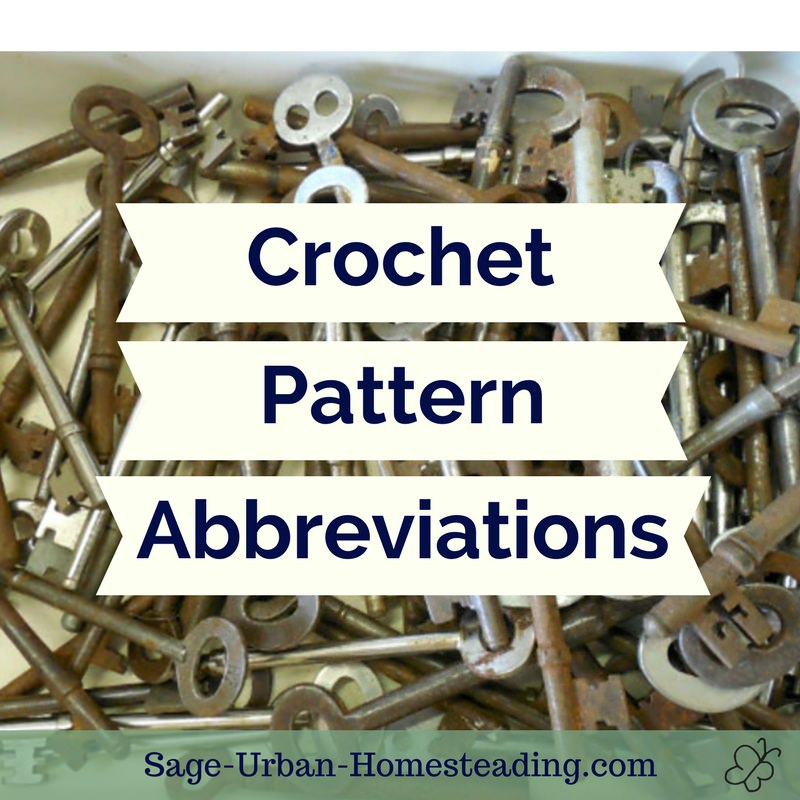 ultimate list of crochet pattern abbreviations