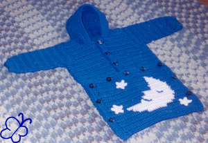 crochet moon and stars sleeper