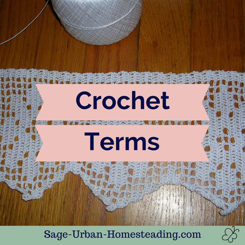 learn crochet terms
