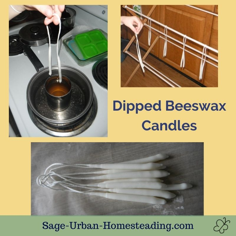 dipped beeswax candles