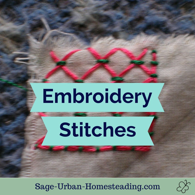 Basic Crewel Embroidery Stitches