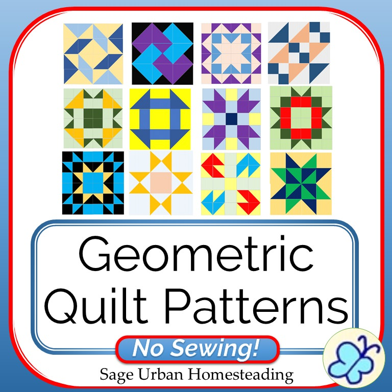 geometric quilt patterns - no sewing!