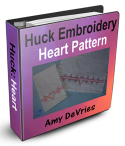 Huck Embroidery Heart Pattern