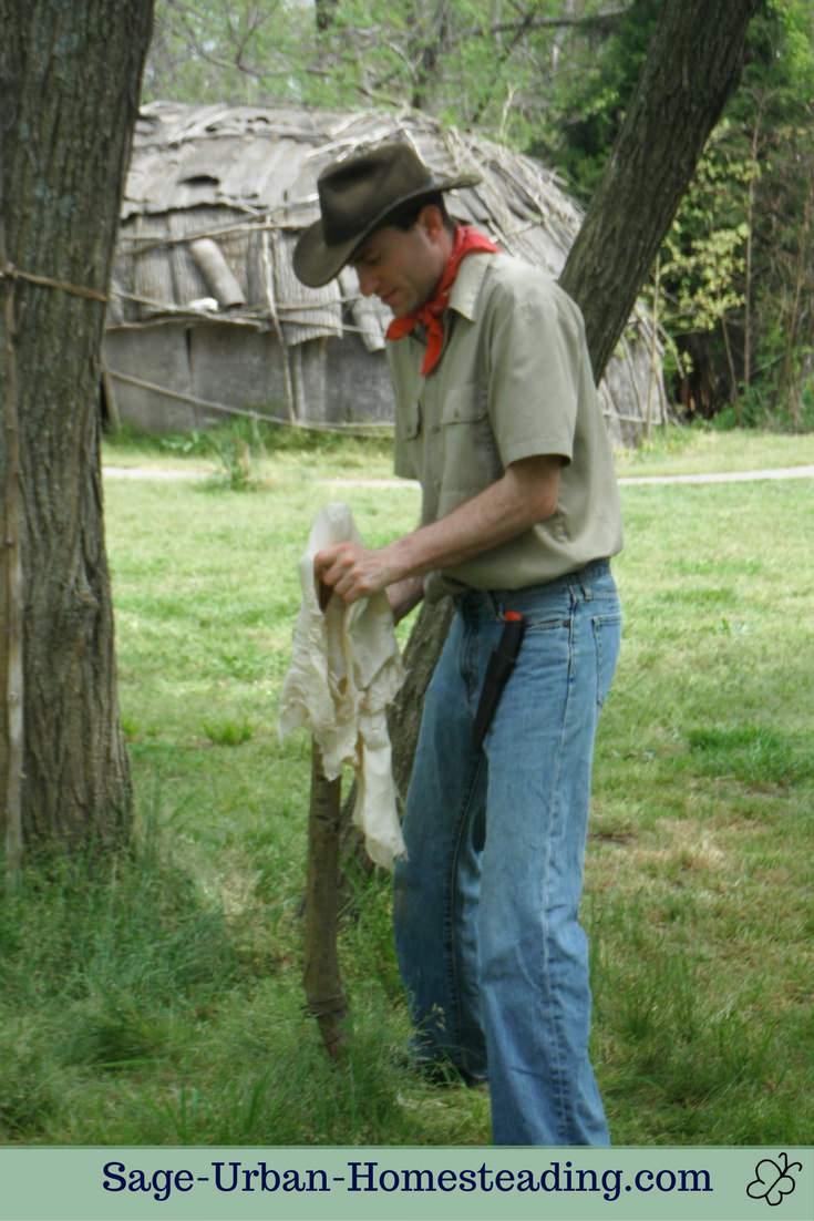 softening a deer hide