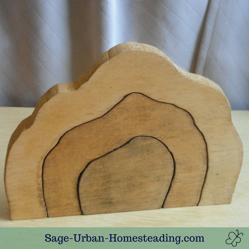 homemade wooden cave stacker