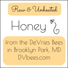 DeVries bees honey label