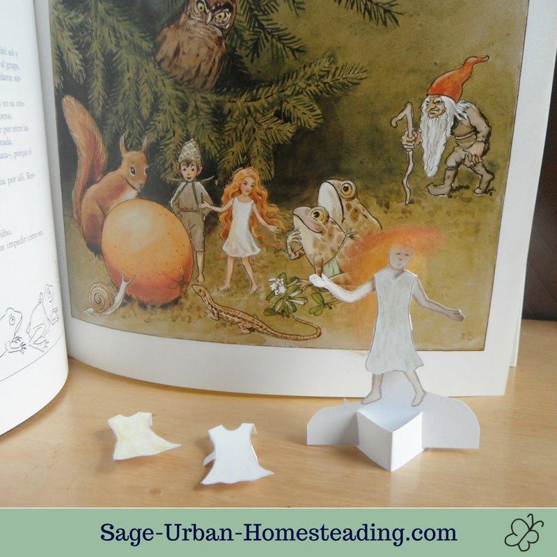 Elsa Beskow paper doll fairy