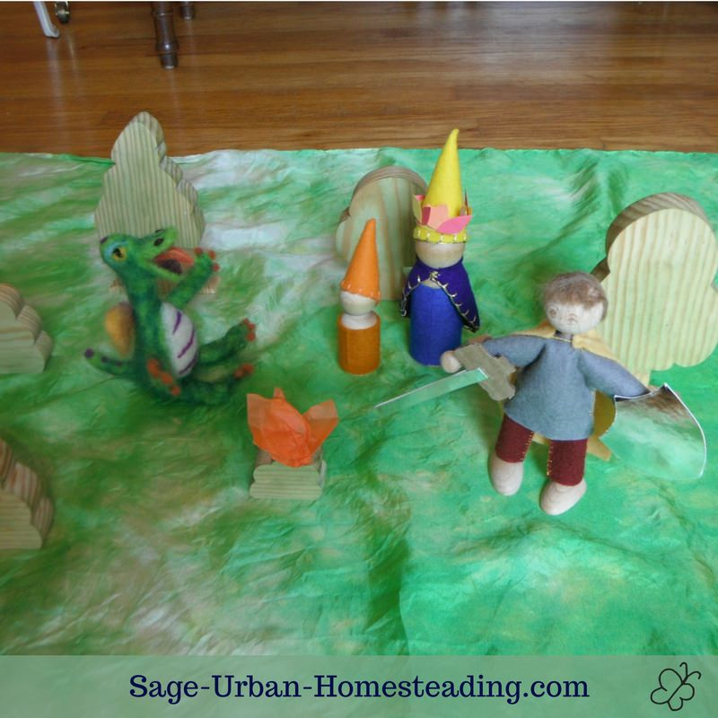 Waldorf Essentials K1 September week 4 story scene