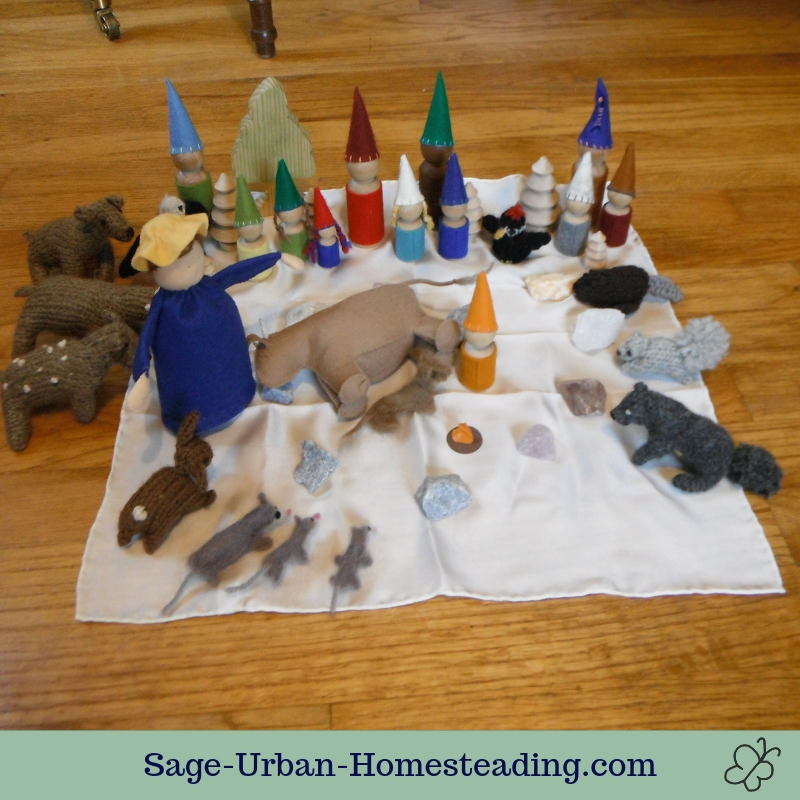 Waldorf Essentials K2 December week 4 story scene, calf birth
