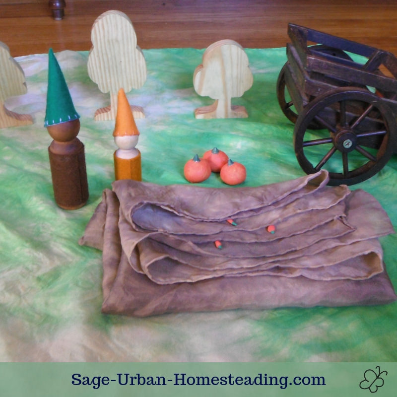 Waldorf Essentials K2 October week 3 story scene for garden harvest