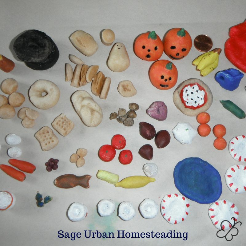 painted bread dough dollhouse props