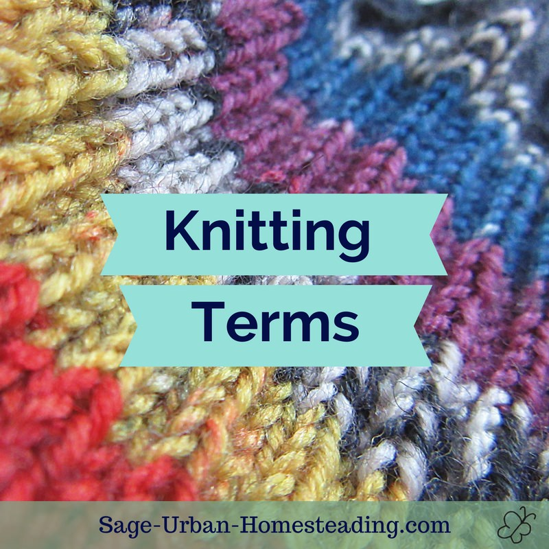 learn knitting terms
