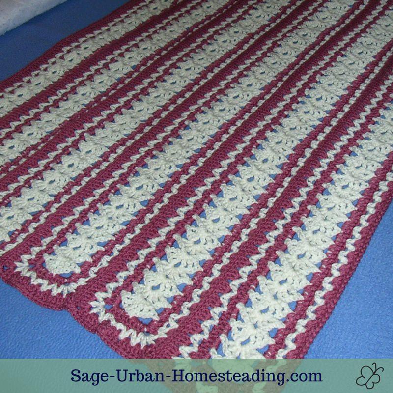 mile a minute crochet afghan pattern
