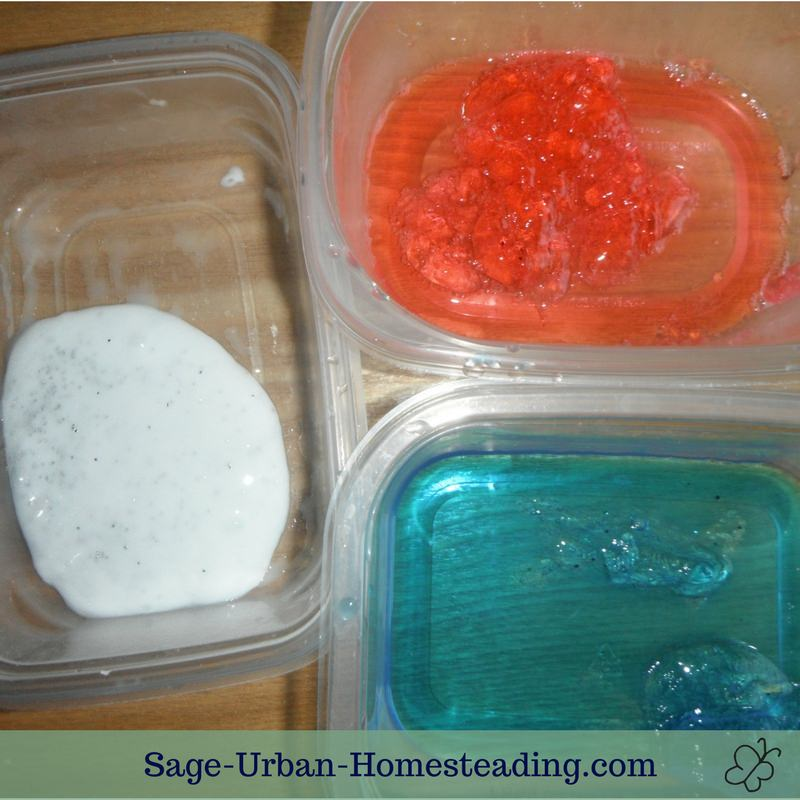 red, white, and blue slime