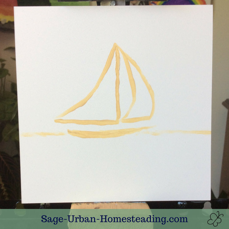 sailboat outline painting