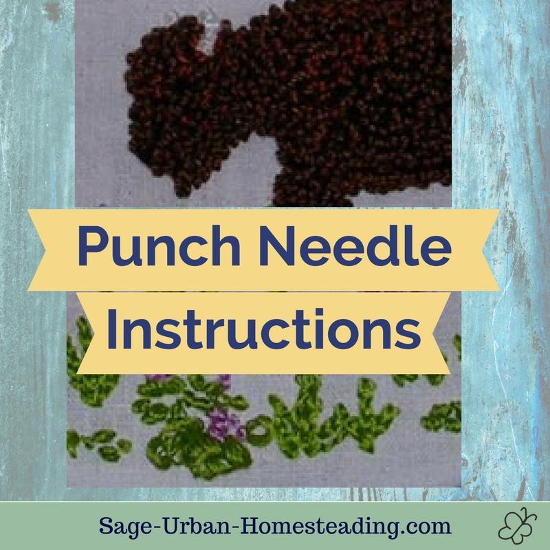 basic punch needle instructions