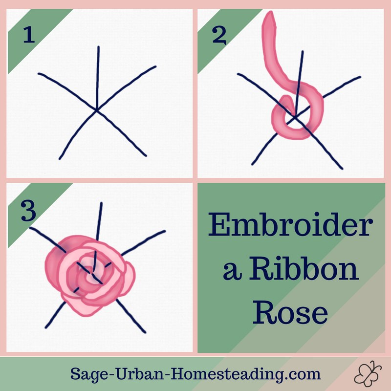 ribbon rose in 3 steps