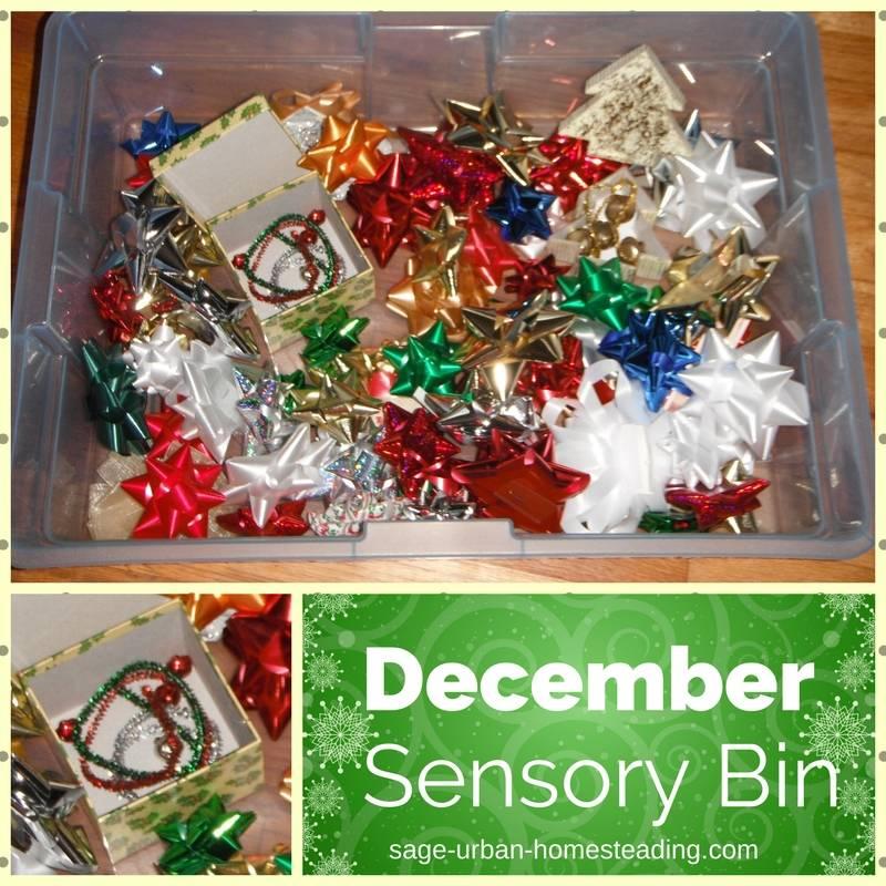 December sensory bin