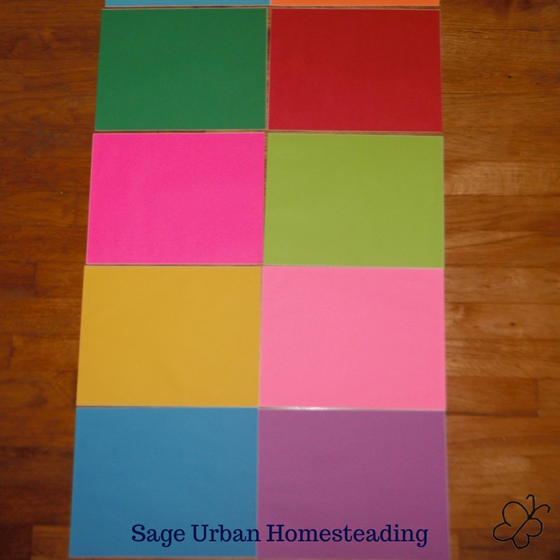 Snapp reading color cards